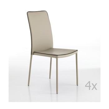 Set 4 scaune Tomasucci Kable, bej de la Tomasucci