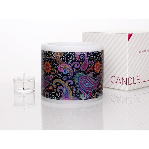 Kruhový svícen na čajovou svíčku Colourful Paisley