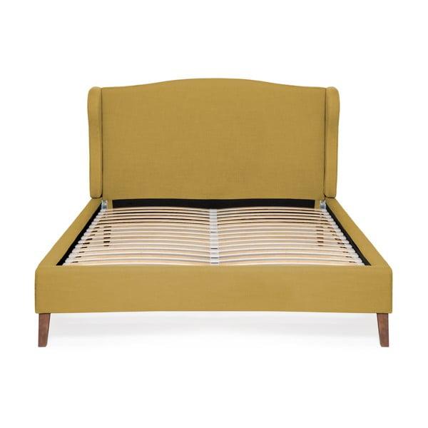 Kukuřičně žlutá postel Vivonita Windsor Linen, 200x180cm