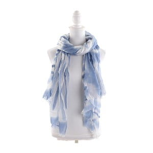 Šátek/pareo BLE Inart 100x200 cm, modrý/bílý