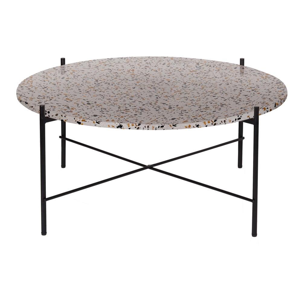 Odkládací stolek WOOOD Vayen Terrazzo, ⌀83cm