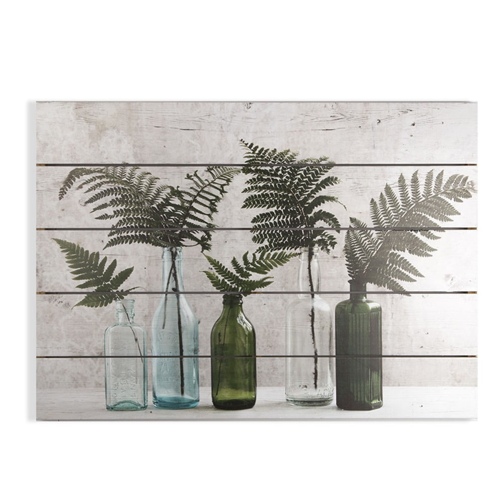Dřevěný obraz Graham & Brown Botanical Bottles, 70 x 50 cm