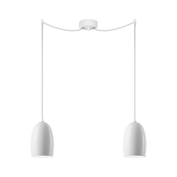Dvojité světlo UME Elementary, lesklá opálová/bílá/bílá