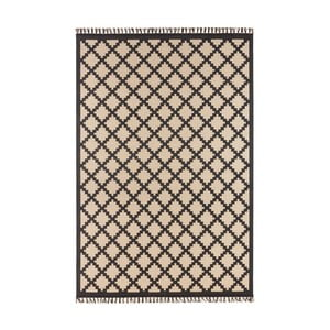Béžovočerný koberec Hanse Home Intense Duro, 80 x 150 cm