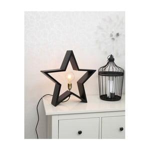 Černá dřevěná svítící hvězda Best Season Lysekil