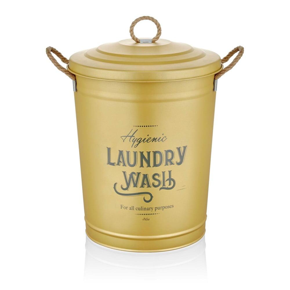 Koš na prádlo v matně zlaté barvě The Mia