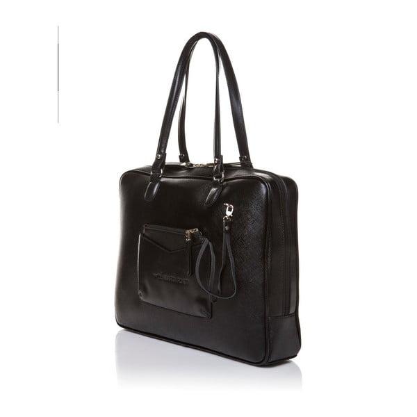 Kožená kabelka přes rameno Marta Ponti Aipee, černá