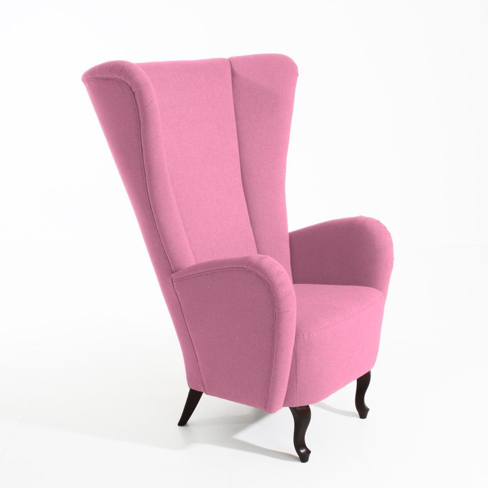 Růžové křeslo ušák Max Winzer Aurora