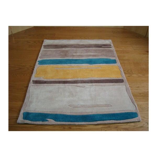 Koberec Paint Strokes Teal Yellow, 80x150 cm