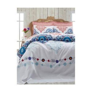 Lehký bavlněný přehoz přes postel Jerry Cini Blue, 200x235cm