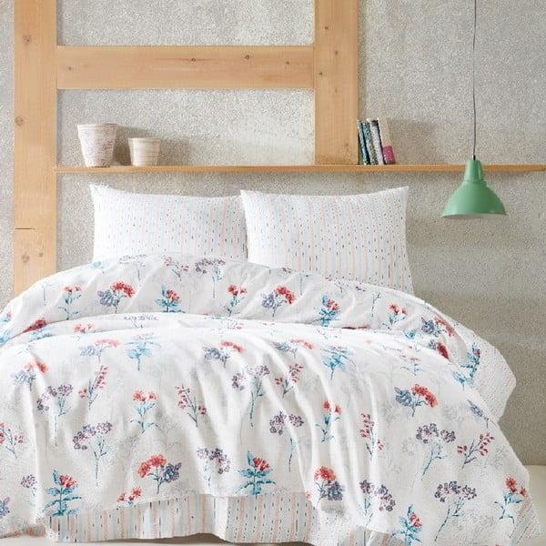 Narzuta na łóżko dwuosobowe z prześcieradłem i poszewkami na poduszkę Agathe, 220x240 cm