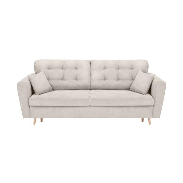 Jasnoszara sofa rozkładana ze schowkiem Cosmopolitan Design Grenoble