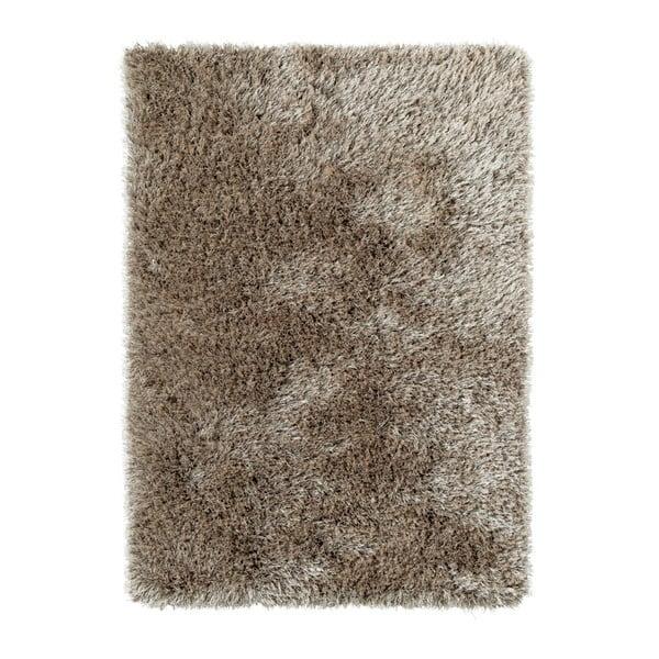 Hnědý ručně tuftovaný koberec Think Rugs Monte Carlo Mink, 60 x 115 cm