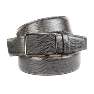 Pánský kožený pásek 37V70S Grey, 90 cm