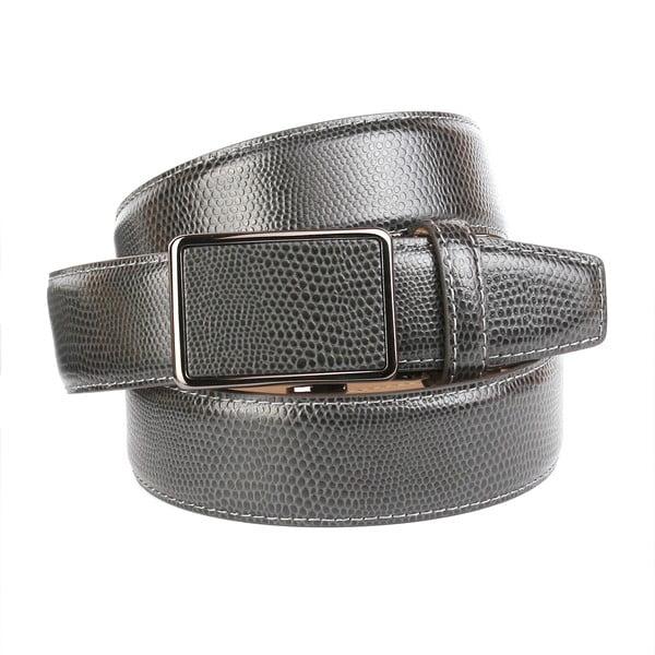 Pánský kožený pásek 37V70S Grey, 100 cm