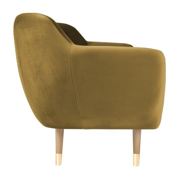 Křeslo ve zlaté barvě Mazzini Sofas Amelie