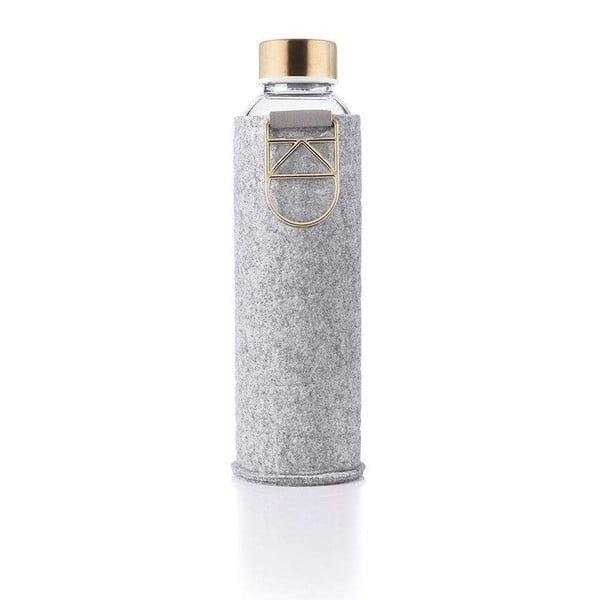 Mismatch Gold boroszilikát üvegpalack, műbőr tartóval, 750 ml - Equa