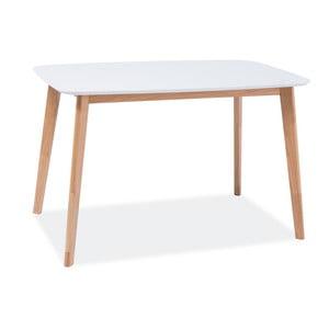 Jídelní stůl s bílou deskou Signal Mosso, délka120cm