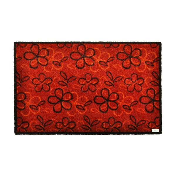 Rohožka Floral Red, 50x70 cm