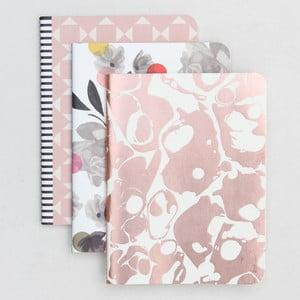 Sada 3 zápisníků Caroline Gardner Rose Tinted Notebooks