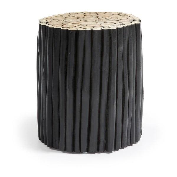 Filipo fekete teakfa zsámoly, ⌀ 35 cm - La Forma
