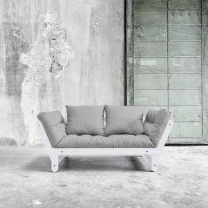 Canapea extensibilă Karup Beat White/Gris