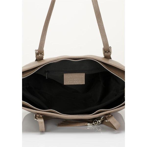 Béžová kožená kabelka Lisa Minardi Arianna