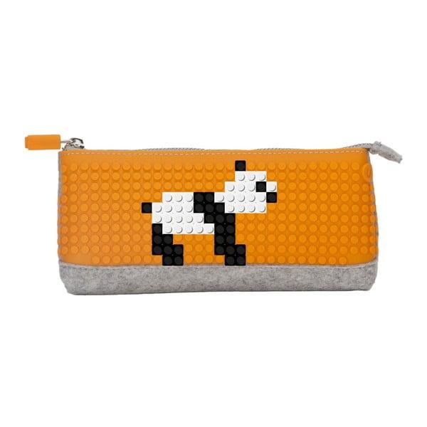 Pixelový penál, grey/orange