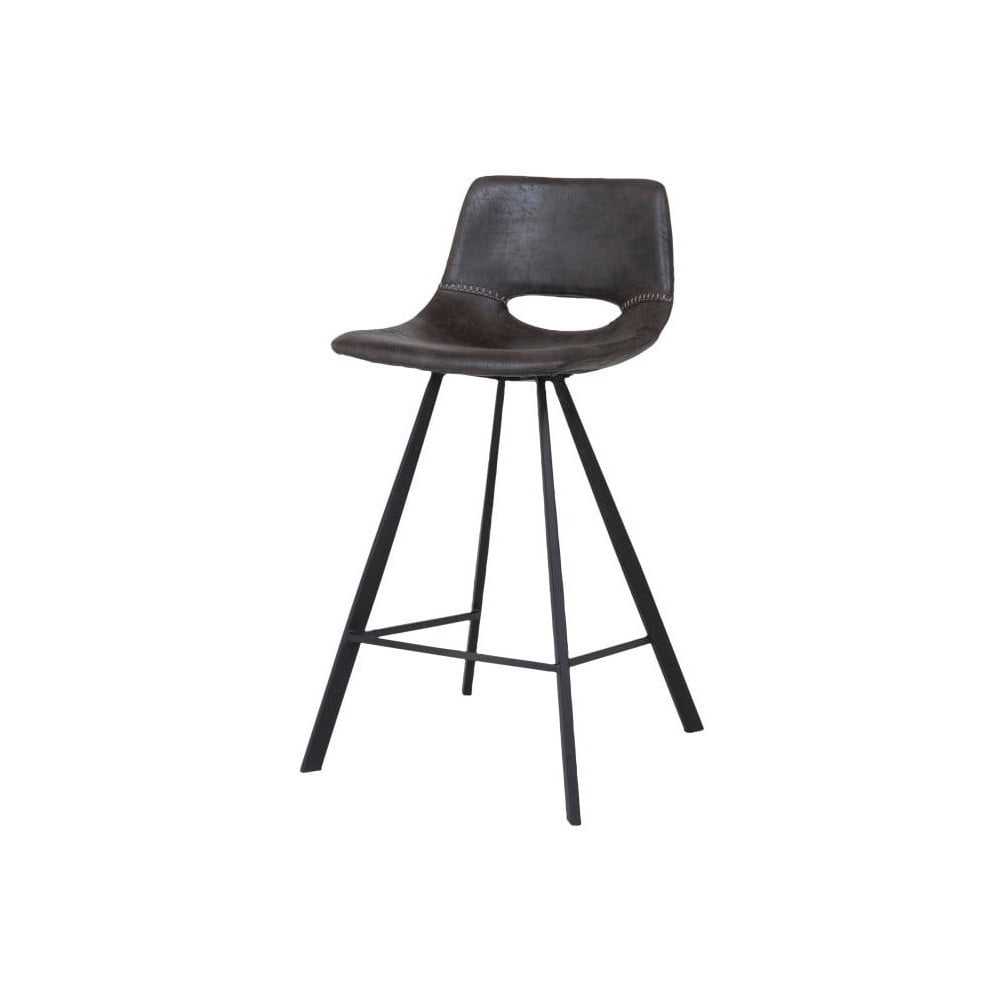 Tmavě šedá barová židle Canett Coronas, výška 87 cm