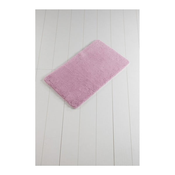 Ružová kúpeľňová predložka Minto Duratto, 100 × 60 cm