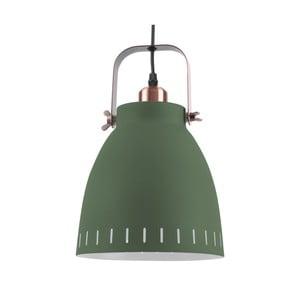 Zelené závěsné svítidlo s detaily v měděné barvě Leitmotiv Mingle, ⌀21cm
