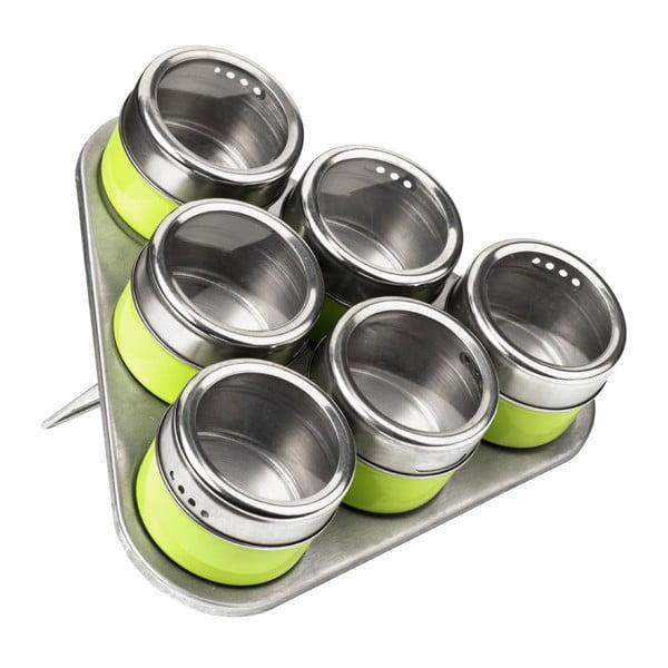 Set 6 recipiente cu magnet și suport Premier Housewares