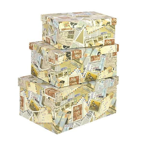 Sada 3 úložných boxů Stamps