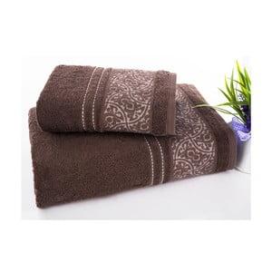 Sada 2 ručníků Saray Brown, 50x90 cm a 70x140 cm