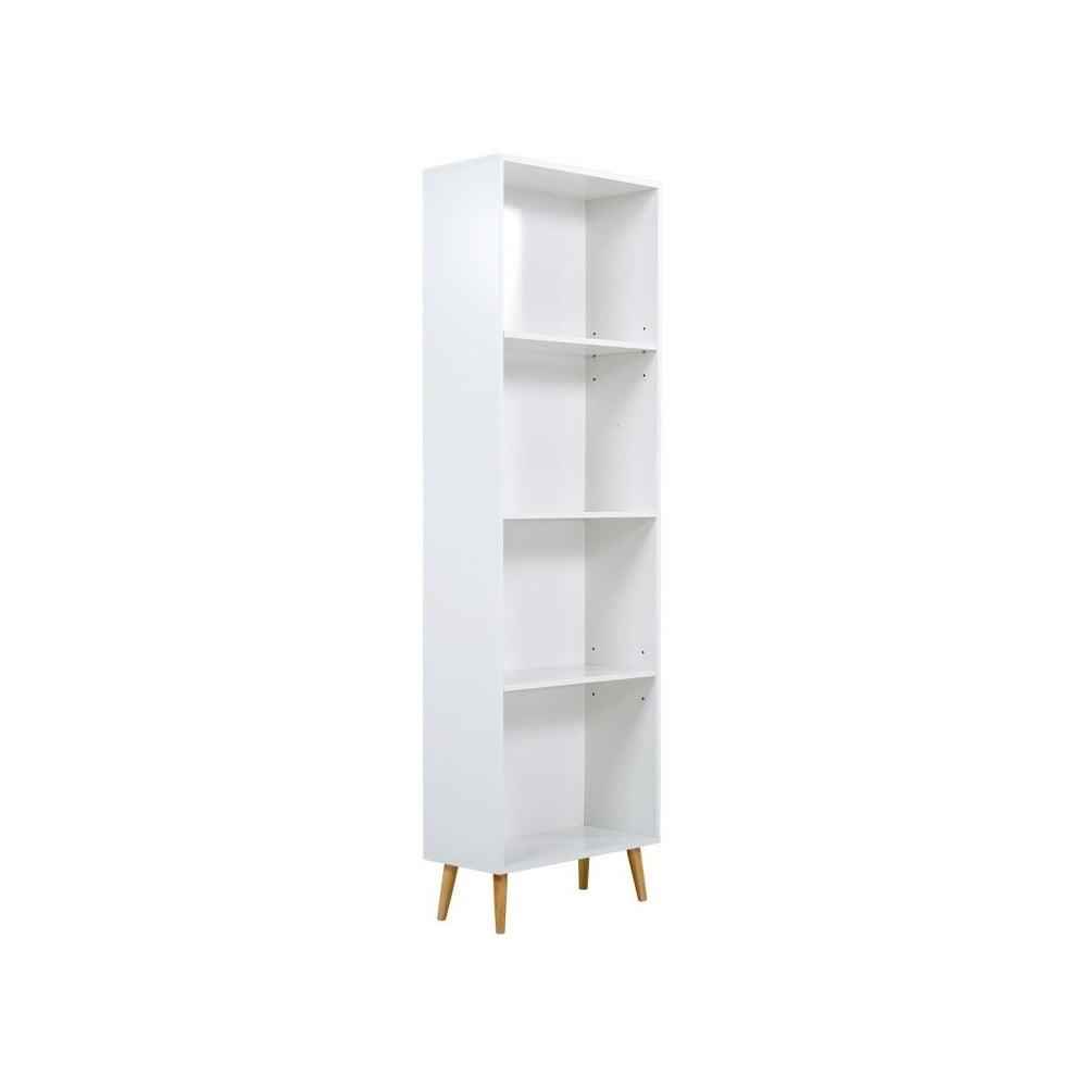 Bílá dřevěná knihovna SOB York