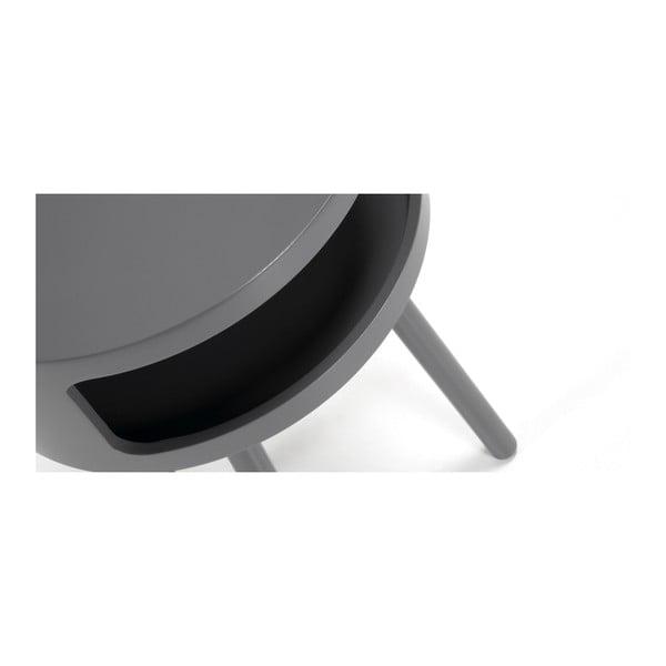 Măsuță cu spațiu de depozitare La Forma Bruk, gri