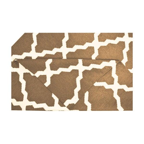 Ručně tkaný koberec Kilim Design Four Brown, 160x230 cm