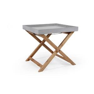 Zahadní stolek s tácem Brafab Woodford, 40x40cm