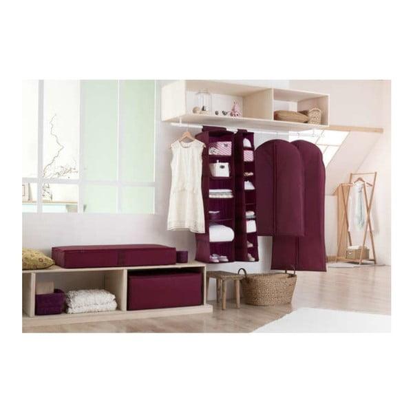 Závěsný obal na šaty ve vínové barvě Compactor Pina, délka 100 cm