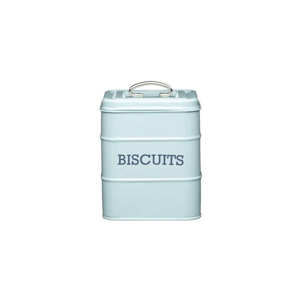Modrá plechová dóza Kitchen Craft Biscuits