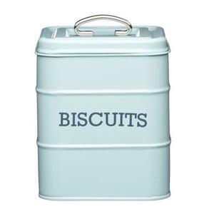 Modrá plechová dóza na sušenky Kitchen Craft Biscuits