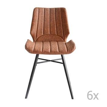 Set 6 scaune RGE Odin, maro de la RGE