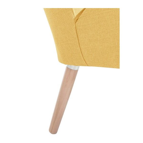 Žluté křeslo Max Winzer Neele Duro Yellow