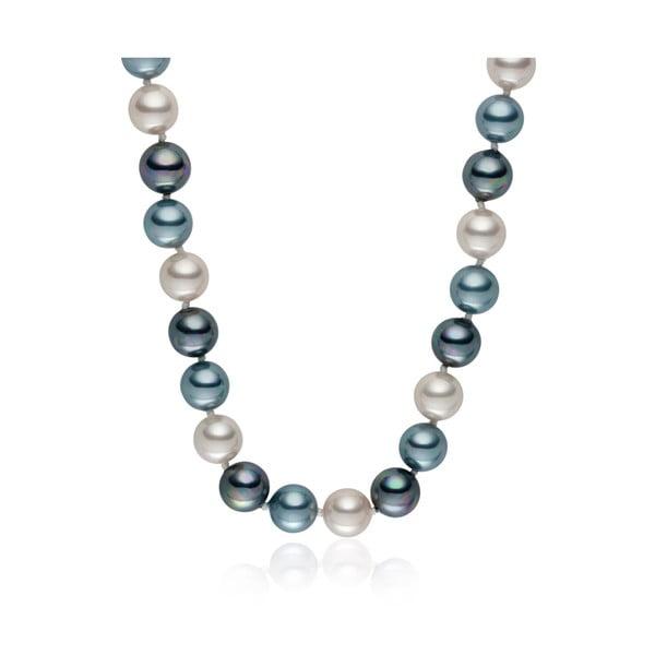 Perlový náhrdelník Pearls Of London Mystic Silver Grey, 50cm