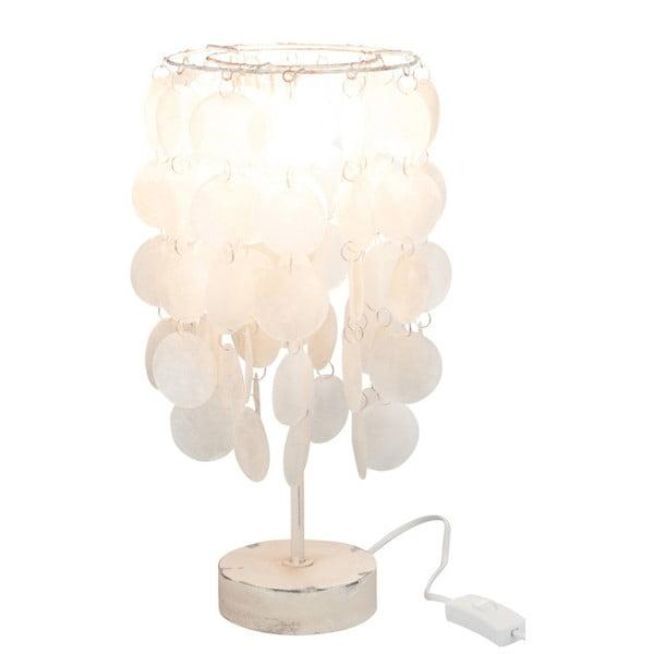 Bílá lasturová stolní lampa J-Line