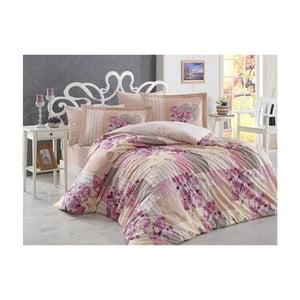 Lenjerie de pat cu cearșaf Rachele, 200 x 220 cm, roz