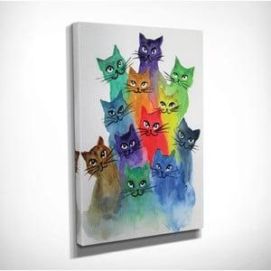 Obraz na plátně Happy Cats, 30x40cm