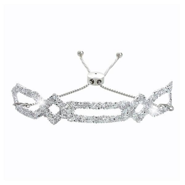 Náramek ve stříbrné barvě s krystaly Swarovski® Yasmine Johanne