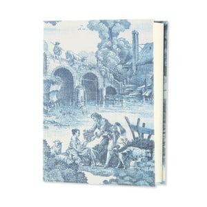Modrý zápisník v lněné vazbě GO Stationery Toile