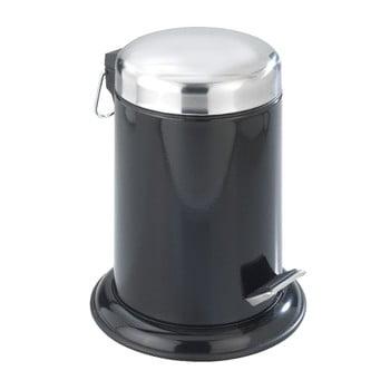 Coș cu pedală Retoro, negru imagine